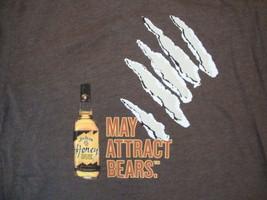 """Jim Beam Honey Whiskey """"May Attract Bears"""" Soft Brown T Shirt M - $14.38"""