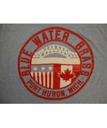 Vintage Blue Water Brass Michigan Canada Bridge Champion blue bar tag T ... - $21.77