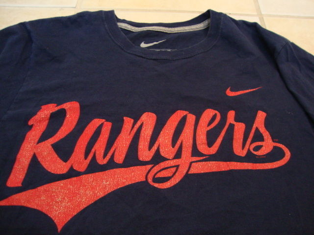 Primary image for MLB Texas Rangers Major League Baseball Fan Nike Apparel Blue T Shirt S