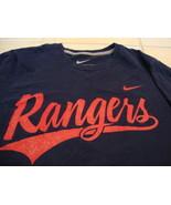 MLB Texas Rangers Major League Baseball Fan Nike Apparel Blue T Shirt S - $15.53