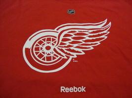 NHL Detroit Red Wings National Hockey League Fan Reebok Apparel Red T Sh... - $15.83