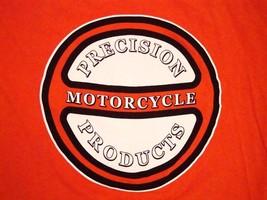 Percision Motorcycle Products Bike Customization Bright Orange T Shirt L - $16.82