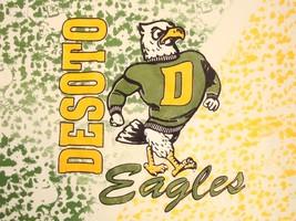 Vintage Desoto Eagles Dallas High School Football Rap Hip Hop 90's T Shi... - $16.82
