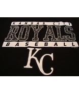 MLB Kansas City Royals Baseball Sports Fan Genuine Merchandise Black T S... - $15.53