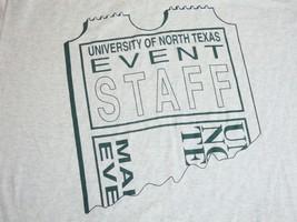Vintage UNT Event Staff Crew University of North Texas Eagles College T Shirt XL - $15.53