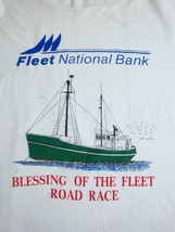 Vintage Blessing of the Fleet Road Race National Bank Racing Bikes T Shirt M - $16.82