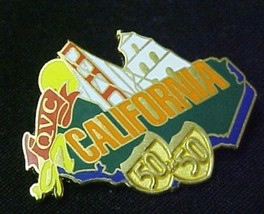 QVC Collectible State Lapel Pin 97 California Lighthouse Bridge 50 in 50 Highway - $12.58
