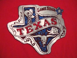 Texas: The Lone Star State Vacation Souvenir Memorabilia T-Shirt L - $14.84