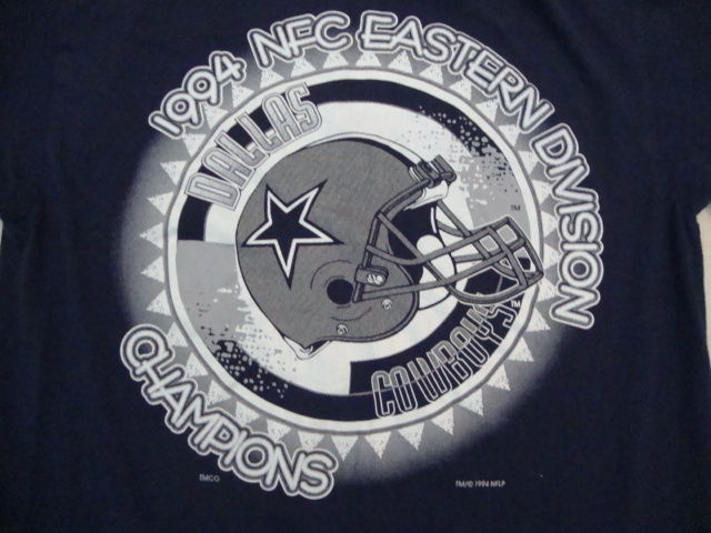 Primary image for Vintage Dallas Cowboys NFC East Champions Football 1994 90's Blue T Shirt M