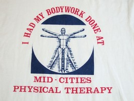 Vintage My Bodywork Mid-Cities Physical Therapy Massage Chiropractic T Shirt M - $15.98