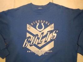 Vintage 1997 Indianapolis Colts NFL Long Sleeve Sweatshirt L - Indiana Blue - $22.76