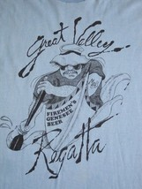 Vintage Great Valley Regatta Fireman River Canoe Firefighter 1984 Thin T Shirt S - $24.74