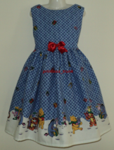 NEW Handmade Disney Winnie the Pooh/Tiger/Eeyore Christmas Dress Sz 12M-... - $64.98