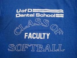 Vintage University of Delaware Dental School Faculty Softball Thin T Shirt M - $19.79