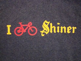 I Petal Peddle Shiner Texas Made Beers Great Austin GASP Cycle Bicycle T Shirt S - $15.83