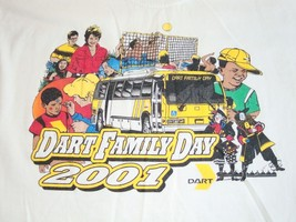 Vintage Dart Family Day 2001 Busses Train Community T Shirt L - $15.98