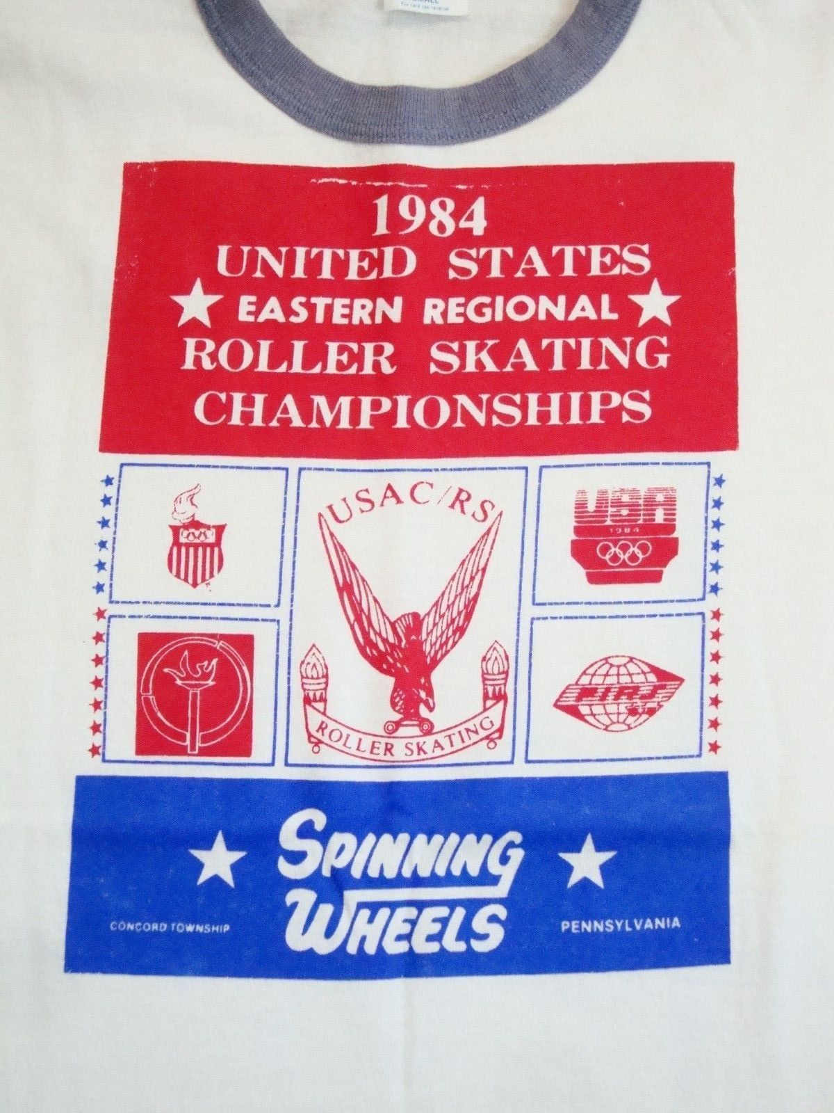 Primary image for Vintage 1984 United States Roller Skating Championship USA RS 80's T Shirt XS