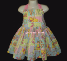 NEW Handmade Disney Winnie the Pooh Patchworks Halter Dress Custom Sz 12... - $59.98