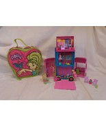 Polly pockets Triple Decker Bus + Large Carry Case + Dolls + Accessories - $20.41