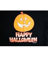 Vintage Happy Halloween Pumpkin Carving Jack O'Lantern October 90's T Sh... - $15.14