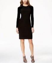 INC International Concepts Sz 14 Black Velvet Jersey Long Sleeve Cocktai... - $69.26