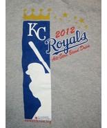 MLB Kansas City Royals 2012 All-Star Blood Drive KC Baseball Gray T Shirt L - $11.87