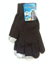 1 Pair Magic Stretch Gloves Smartphone Texting Touch Screen Brown One Size - $125,63 MXN