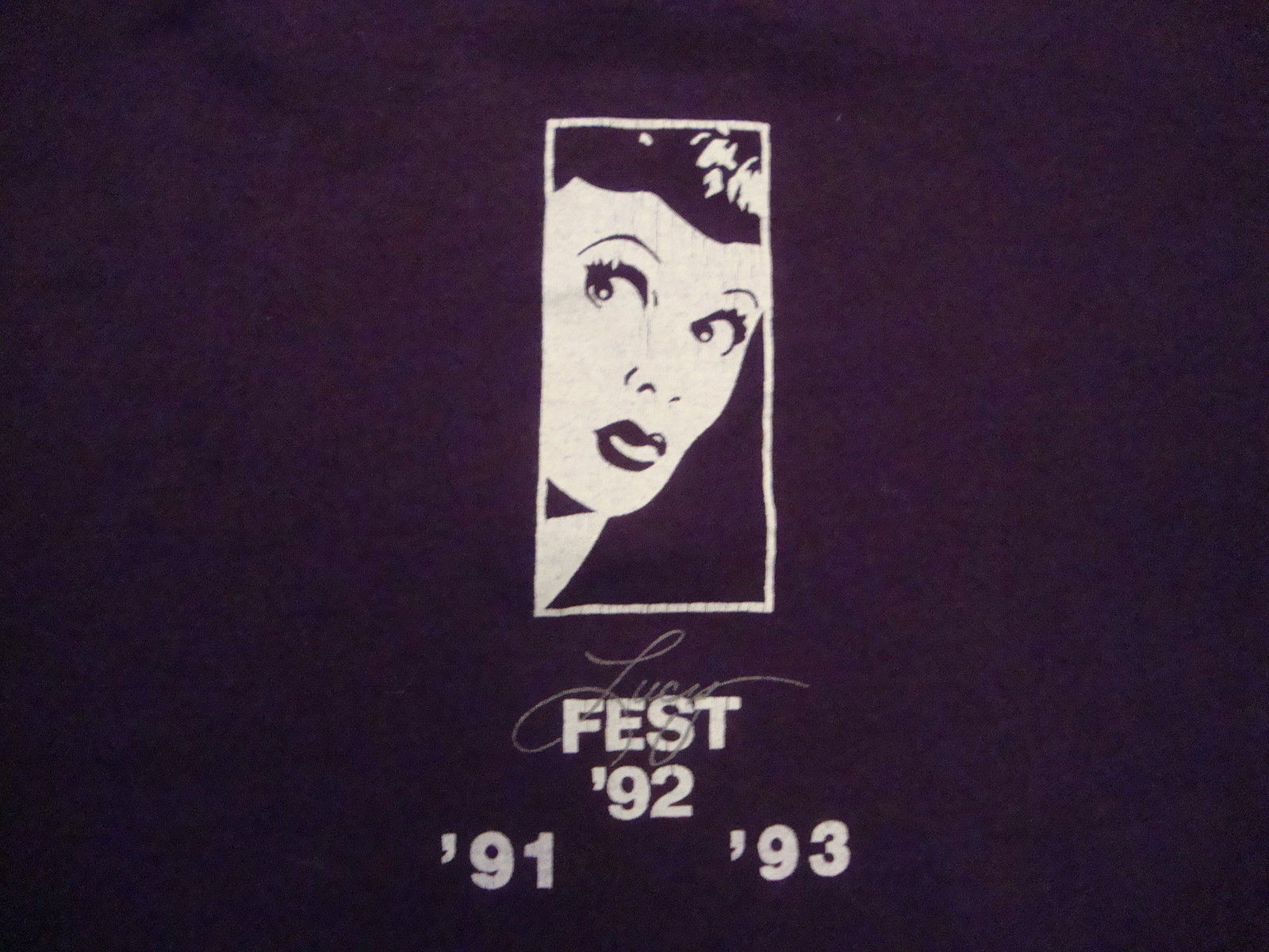 Primary image for Vintage Lucy Fest Lucille Ball Early 90's 50/50 funny tv lucyfest T Shirt XL