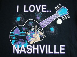 Vintage Nashville Tennessee Country Music City Capital I Love Tourist T Shirt L - $21.29