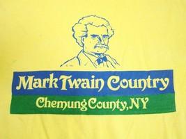 Vintage Mark Twain Country Chemung County New York NY Author Tourist T Shirt L - $24.74
