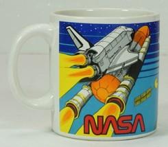 Vintage NASA Kennedy Space Center Spaceport USA Coffee Mug 1988 - $12.99