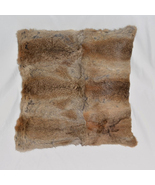 Two Side Luxurious Natural Rabbit Fur Floor Cushion Cover Decorative Pil... - £18.65 GBP+