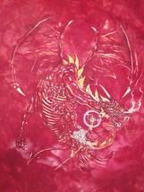 Wizzard Wizard Dragon Sci Fi Fantasy Red Tie ty Dye hipster T Shirt XL - $14.84