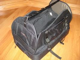 Travelsmith folding ballistic nylon suitcase 22 inch, carry on, rolling - $52.71