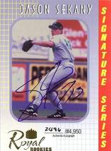 2000 autograph jason sekany royal rookies baseball card red soxs - $2.99