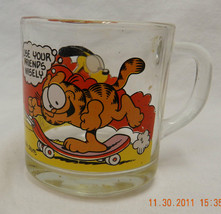 McDonalds Garfield Mug Anchor Hocking Davis Use Friends Wisely Odie Glass Cup - $20.34