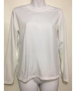 Patagonia Womens S Capilene White Long-Sleeve Pullover Base Layer Crewneck - $29.89
