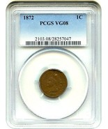 1872 1c PCGS VG-08 BN - Key Date - Indian Cent - Key Date - £104.96 GBP