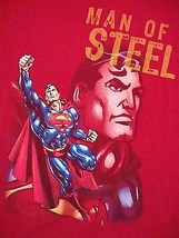 Superman Man of Steel DC Comics Six Flags Souvenir Roller Coaster T Shirt L - $14.84