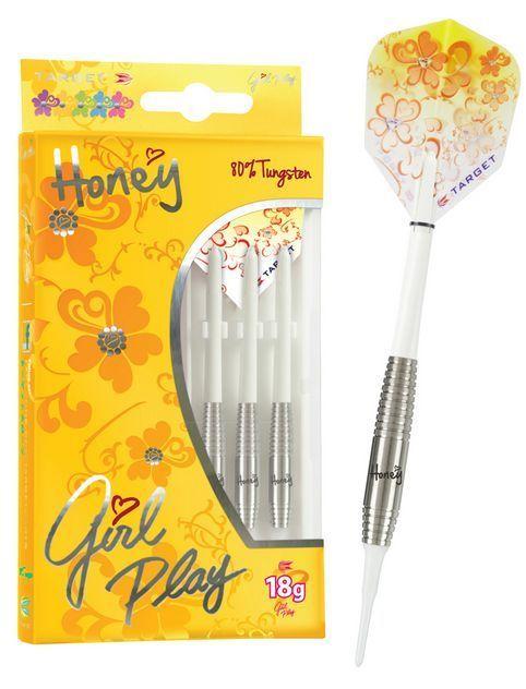 Target Girl Play HONEY 80% Tungsten 18g Soft Tip Darts - tips flights - $44.95