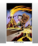 """Hot Betty & the Tiki Man""  ( Tiki & Comics Art ) - $25.00"