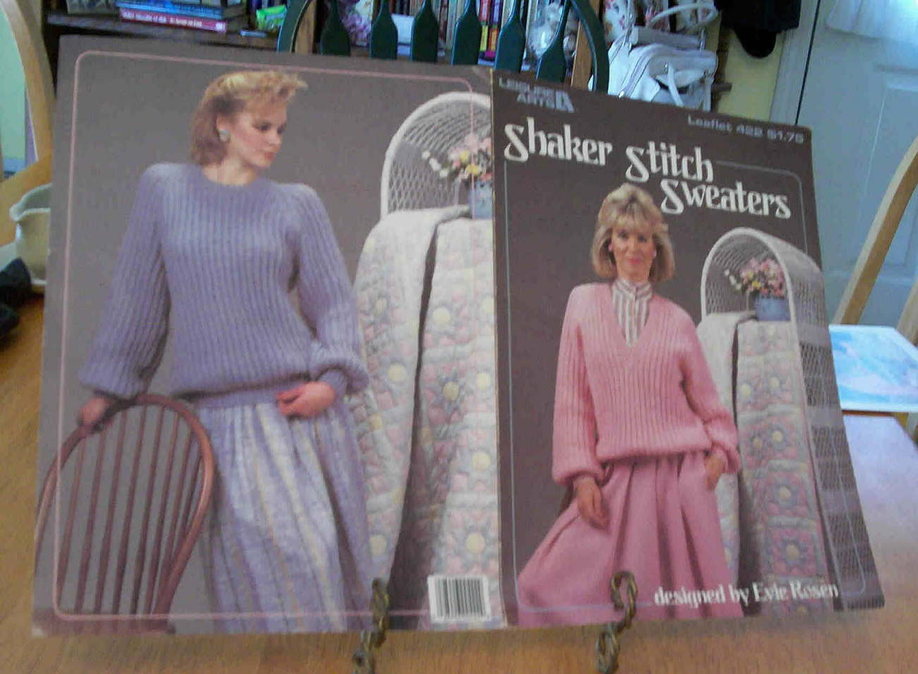Knitted Shaker Stitch Sweaters, Leisure Arts Bonanza