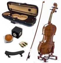 4/4 Antique Style Professional Handmade VN403 Violin Kit w Case Bow Rosi... - $308.54