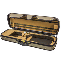 Luxury Euro-Style 4/4 Violin Case Oblong Tan/Tan, Light Brown - $111.84