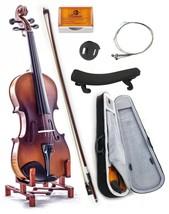 Premium Solid Wood 1/2 Violin w Case Bow Rosin ... - $65.44