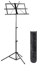New High Quality Lightweight Adjustable Sheet Music Stand w Carrying Bag... - $17.75