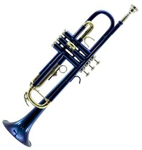 **Great Gift** Beautiful Band Approved Blue/Gold Trumpet W Hard Case Clearance - $139.99