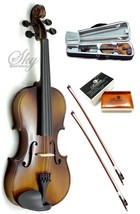 Violin 4/4 Full Size Hi-Quality w Leto Rosin, Light Weight Case+Two Braz... - $89.75