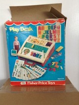 VINTAGE 1972 FISHER PRICE PLAY DESK 176 LETTER TRAY DESK NUMBERS ORIGINA... - $26.99