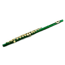 **GREAT GIFT**Beautiful New Band Approved Green C Flute w Gold Keys Clos... - $129.99